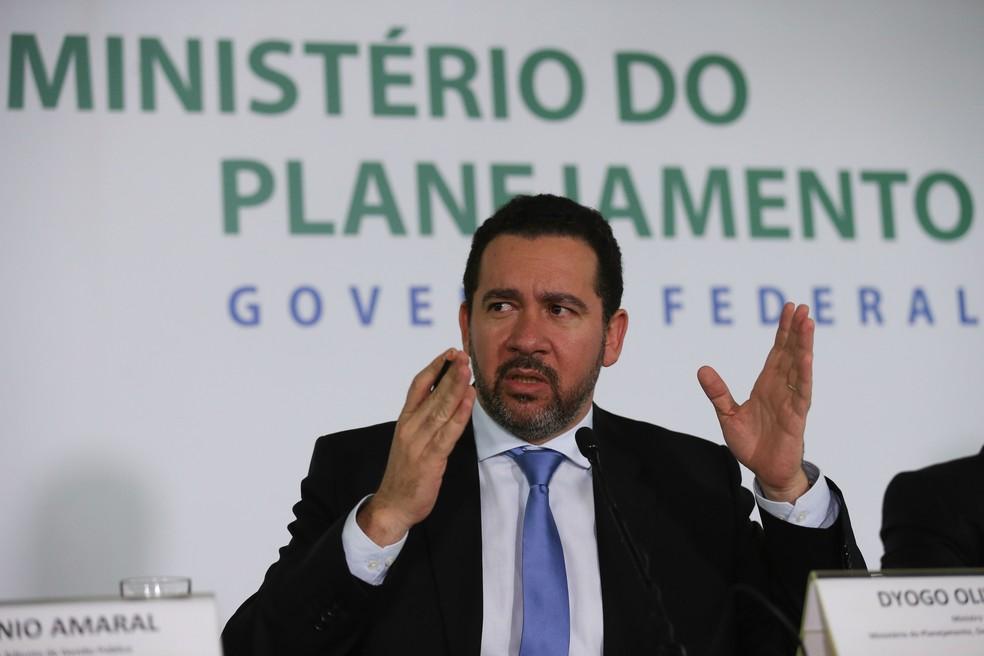 O ministro do Planejamento, Dyogo Oliveira, durante entrevista em dezembro do ano passado (Foto: Fábio Rodrigues Pozzebom/Agência Brasil)
