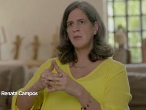Renata Campos gravou depoimento de apoio a Marina Silva (Foto: Reprodução/Internet)