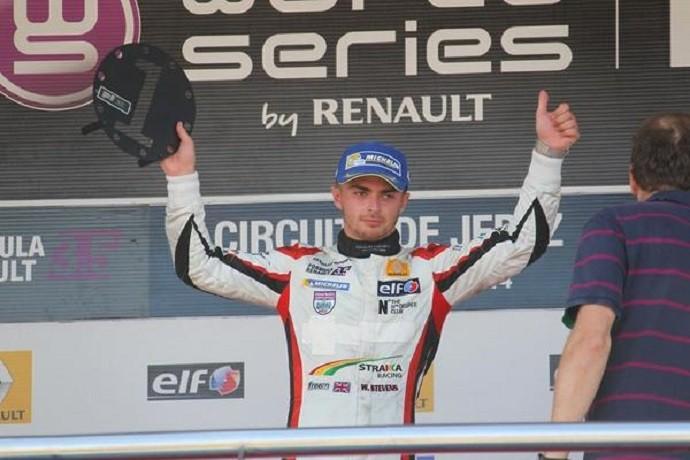 Will Stevens em uma de suas duas vitórias na Fórmula Renault 3.5 (Foto: Divulgação)