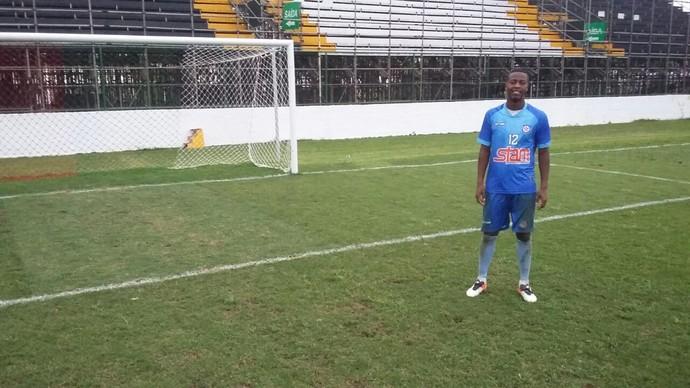 Goleiro Luiz Felipe, do Friburguense (Foto: Felipe Basilio/GloboEsporte.com)