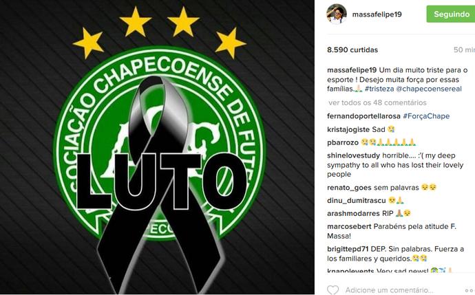 Felipe Massa homenageia Chape em post (Foto: Reprodução)