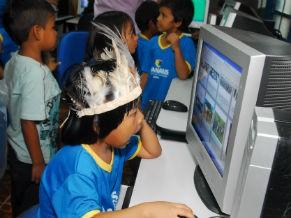 Primeiro centro de inclusão digital indígena de Manaus (Foto: Divulgação)
