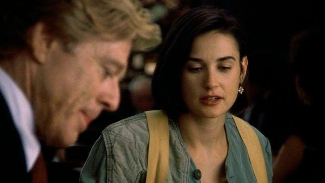 Robert Redford e Demi Moore em cena do filme Proposta Indecente, 1993, direção Adrian Lyne, Paramount Pictures (Foto: Divulgação)