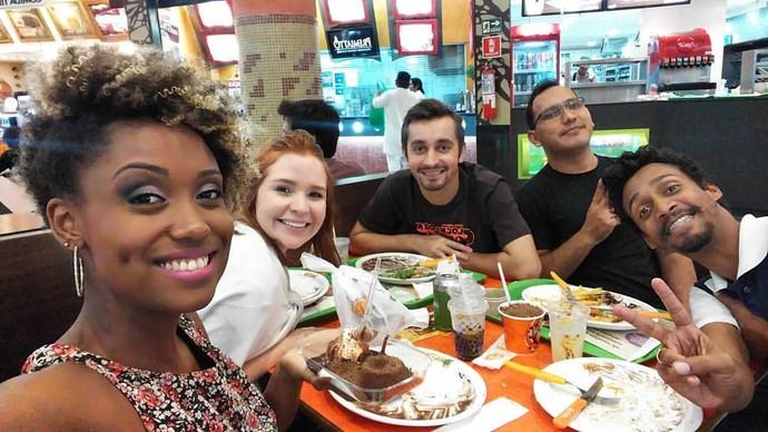 Equipe do 'Zapp' depois das gravações (Foto: Arquivo Pessoal)