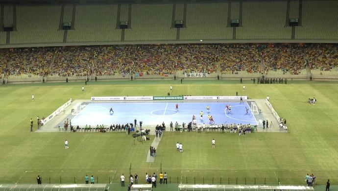 Brasil x Portugal futsal Arena Castelão amistoso (Foto: Thaís Jorge)