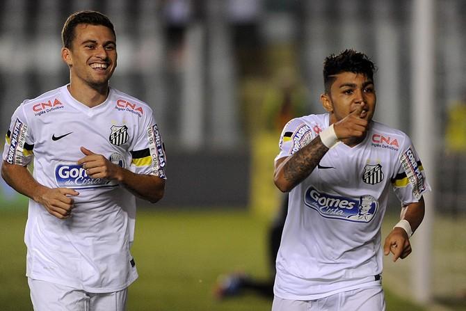 Lucas Lima Gabriel Santos (Foto: Ivan Storti / Divulgação Santos FC)