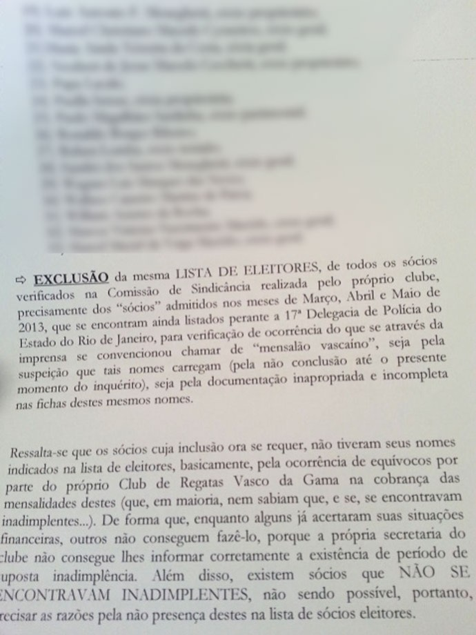 Documento Vasco Eleição (Foto: Raphael Zarko)