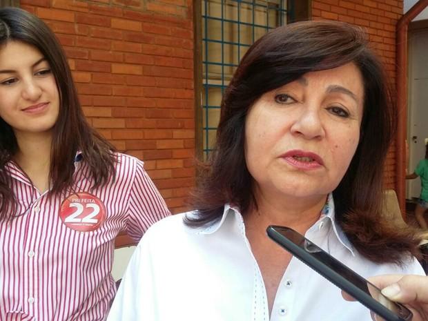 Délia Razuk, candidata à prefeita em Dourados (Foto: Gessé André/ TV Morena)