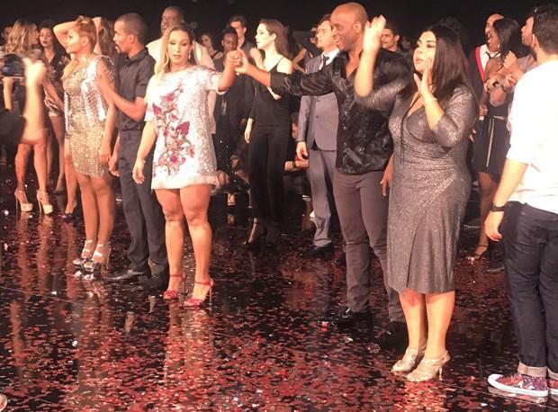 Gravação da nova vinheta da Dança dos Famosos (Foto: AF Produções/ Divulgação )