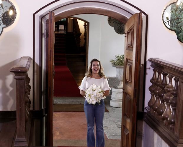 Fernanda Souza escolhe música para entrar no altar (Foto: Inácio Moraes / TV Globo)