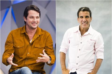 Marcelo Serrado e Eri Johnson (Foto: TV Globo)