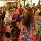 Crianças se divertem em Bailinho Infantil (Reprodução/TV Verdes Mares)