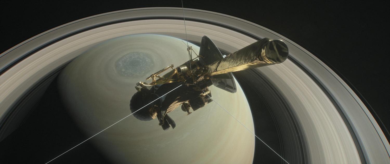Sonda Cassini no Hemisfério Norte de Saturno (Foto: NASA/JPL-Caltech)
