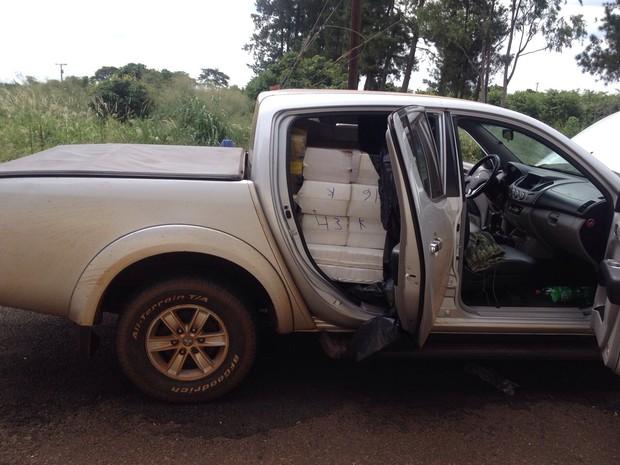 Droga foi levada para Polícia Federal em Araraquara (Foto: Divulgação/ Polícia Rodoviária (TOR/ Araraquara))