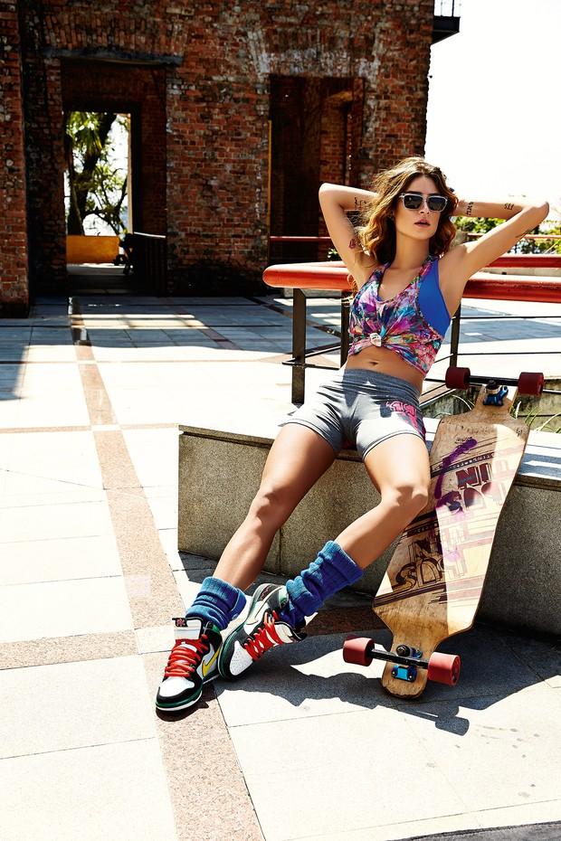 Thaila Ayala posa para campanha de moda fitness (Foto: Divulgação / Caju Brasil - Marcio Ringo)