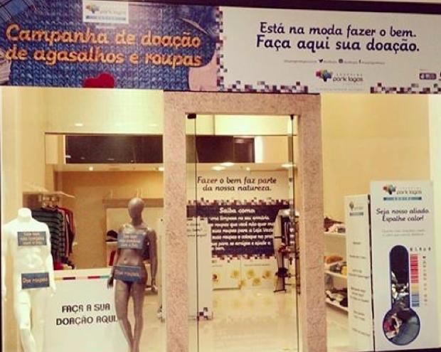 Inter TV apoia arrecadação de agasalhos em shopping (Foto: Divulgação)