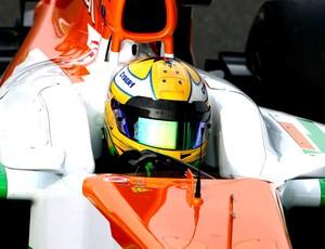 Luiz Razia faz teste na Force India (Foto: Divulgação)
