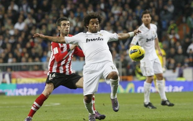 Marcelo - Real Madrid x Athletic Bilbao (Foto: Agência Efe)