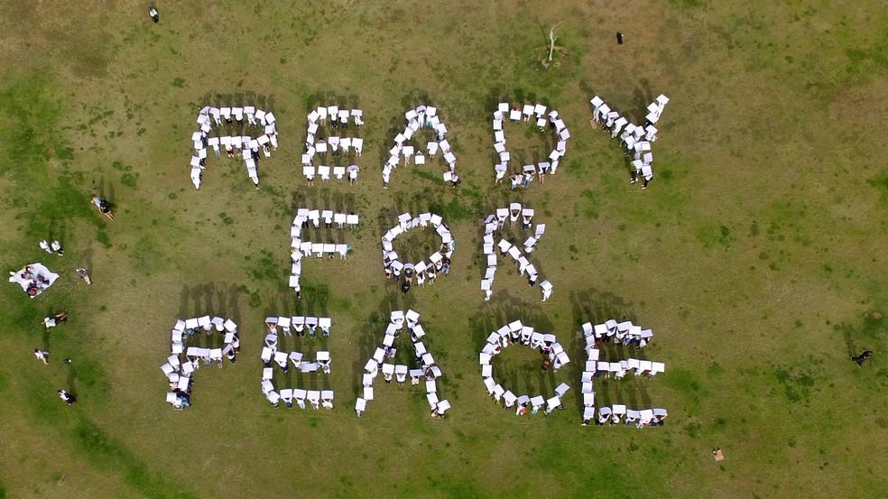 Movimento israelense 'As Mulheres fazem a paz' enviam mensagem a Trump (Foto: JACK GUEZ / AFP)