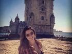 Ex-BBB Laisa curte viagem a Portugal