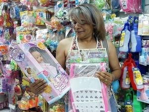 Divinópolis, centro-oeste,dia das crianças, vendas, presentes (Foto: Anna Lúcia Silva/G1)