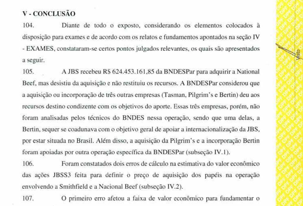 """Laudo da Polícia Federal encontra """"erros de cálculo"""" em empréstimo feito à JBS (Foto: reprodução/ÉPOCA)"""