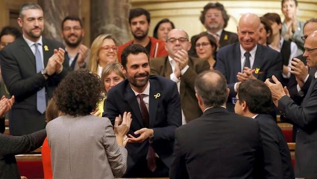 Escolhido pelo parlamento, Roger Torrent é o novo presidente da Catalunha (Foto: EFE)