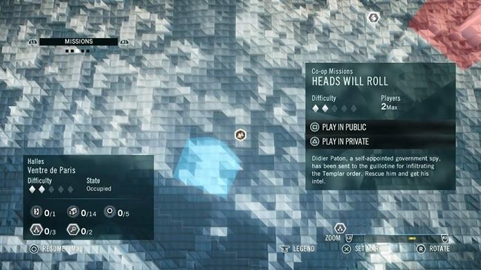 Procure pela missão no mapa (Foto: Reprodução/Thiago Barros)