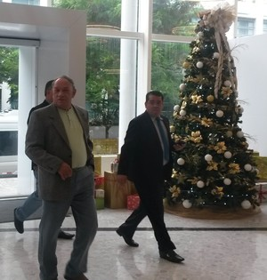 Zeca Xaud, presidente da Federação de Roraima, Amadeu Rodrigues, presidente da Federação da Paraíba (Foto: Leonardo Velasco/GloboEsporte.com)