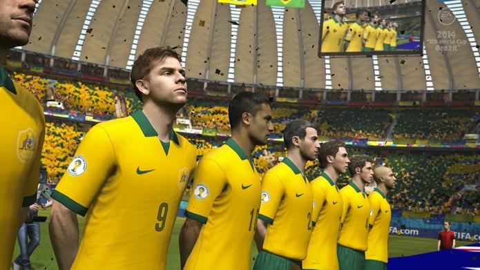 Seleção da Austrália no game Copa do Mundo da FIFA Brasil 2014 (Foto: Divulgação)