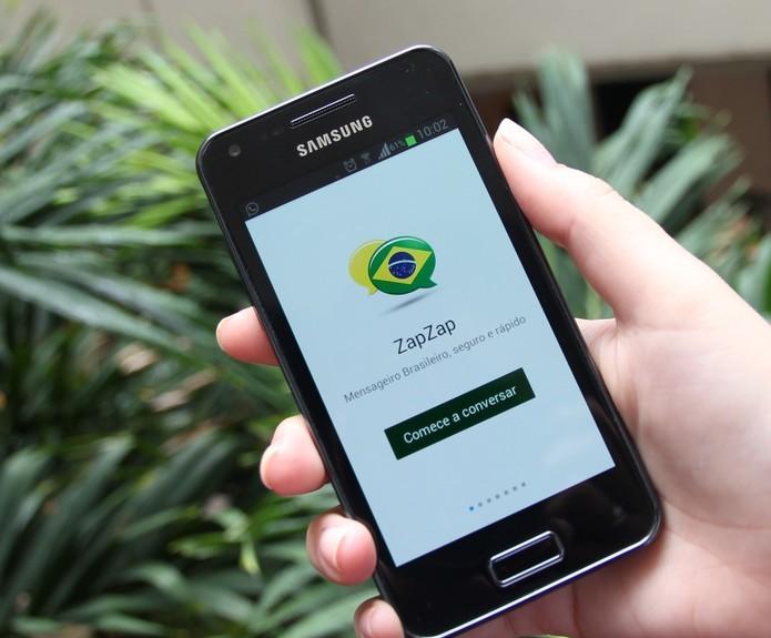 ZapZap é o mensageiro com cara brasileira e recursos semelhantes aos do WhatsApp (Foto: Techtudo/Taisy Pecsen)