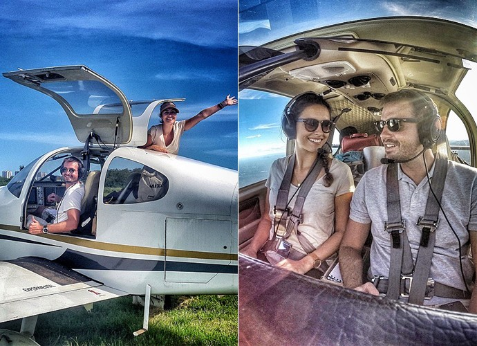 Max Fercondini e Amanda Richter passaram cinco meses viajando  (Foto: Arquivo Pessoal)