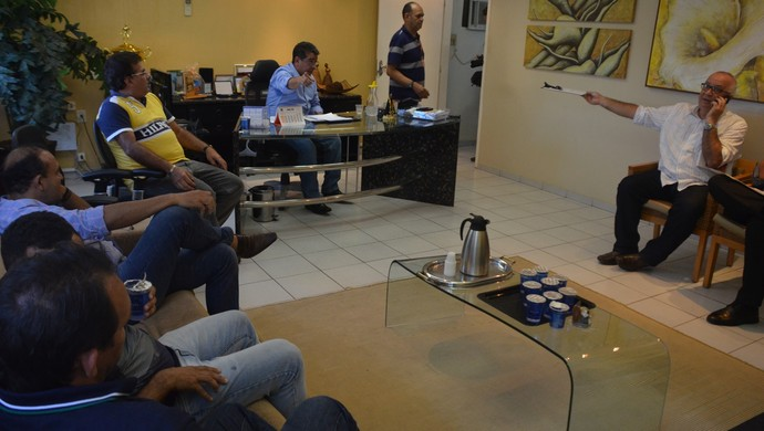 reunião, fpf, campeonato paraibano (Foto: Edgley Lemos / GloboEsporte.com/pb)