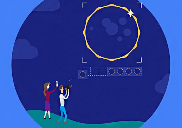 Projeto do Google registrou eclipe total de forma colaborativa (Foto: Reprodução)