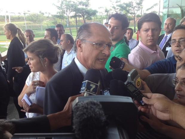 Governador de SP esteve em Sorocaba (Foto: Jéssica Pimentel / G1)