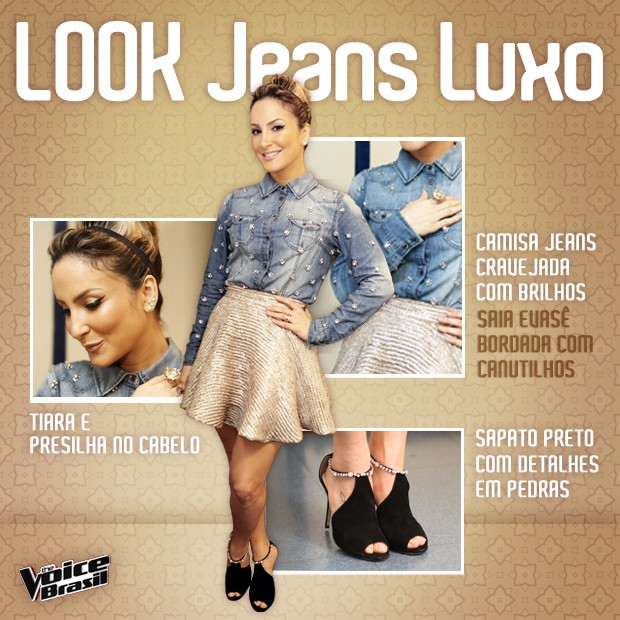 Look Claudia Leitte vivo 3 (Foto: The Voice/ TV Globo)