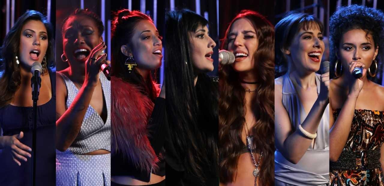 Sete jovens cantoras interpretam sucessos nacionais e internacionais na quarta temporada de Na Voz Delas (Foto: Bis)