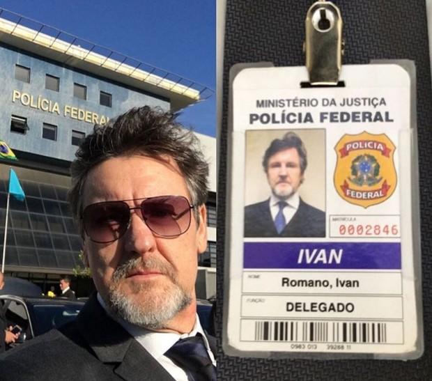 Antonio Calloni mostra crachá de seu personagem no filme A Lei é Para Todos (Foto: Reprodução/Instagram)
