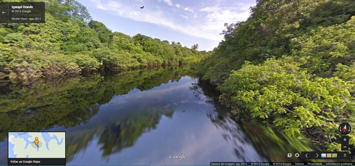 Bacia do Rio Amazonas no Street View do Google Maps (Foto: Reprodução/Paulo Finotti)