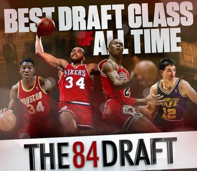 nba draft 1984 - jordan, barkley, Olajuwon e Stockton (Foto: Reprodução/Instagram)