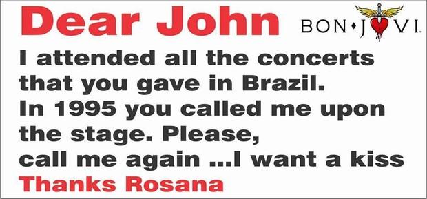 Faixa que Rosana Guedes levou para o Rock In Rio (Foto: Facebook / Reprodução)