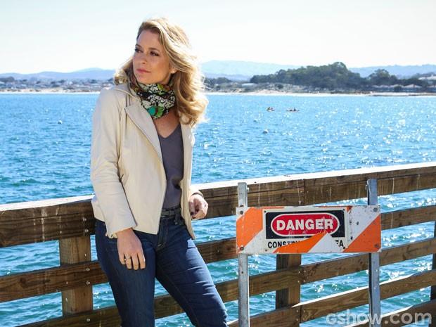 Cláudia Abreu se inpirou nas namoradinhas da América para Pamela Parker-Marra (Foto: Aline Kras/TV Globo)