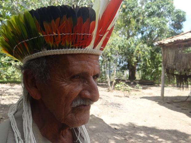Cacique Celestino diz que teme conflitos por causa de demarcação. (Foto: Carolina Sanches/G1)