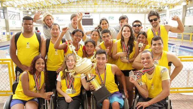 Natação PCD Mogi das Cruzes equipe Jogos Abertos (Foto: Cleomar Macedo / Smel Mogi)