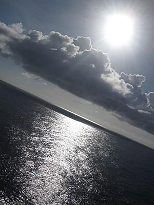 Alto-mar durante a travessia do Atlântico (Foto: Marcelo Valle/Arquivo pessoal)