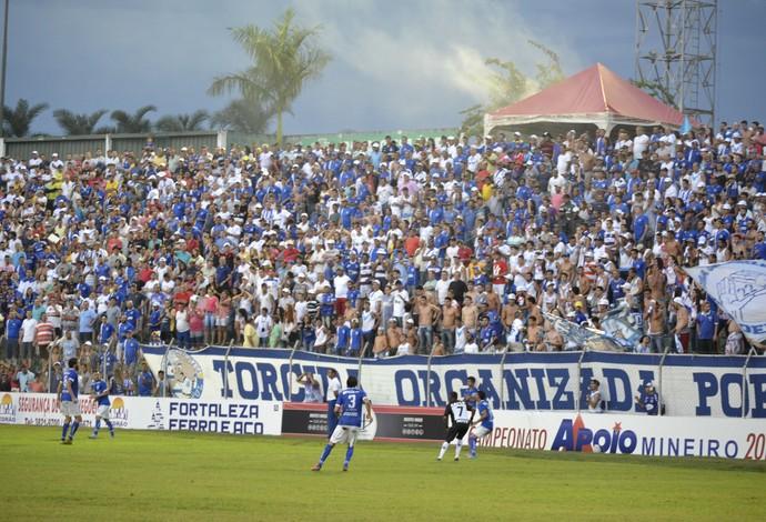 Torcida URT, Patos de Minas, URT x Atlético-MG, Bernardo Rubinger de Queiroz (Foto: URT/Divulgação)