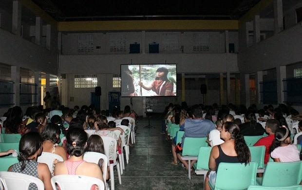 'Pipoca em Cena' exibe 'Tainá 2' (Foto: Katiúscia Monteiro/ Rede Amazônica)