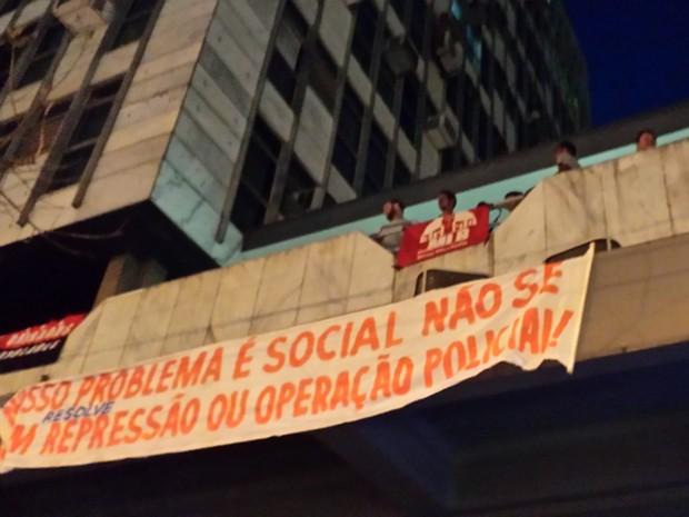 Manifestantes ocupam prédio público em Belo Horizonte (Foto: Humberto Trajano/G1)