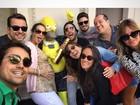 Grávida, Luana Piovani faz farra com amigos famosos em Las Vegas