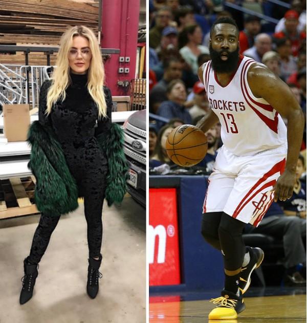 Khloé Kardashian e o jogador de basquete James Harden (Foto: Instagram/Getty Images)